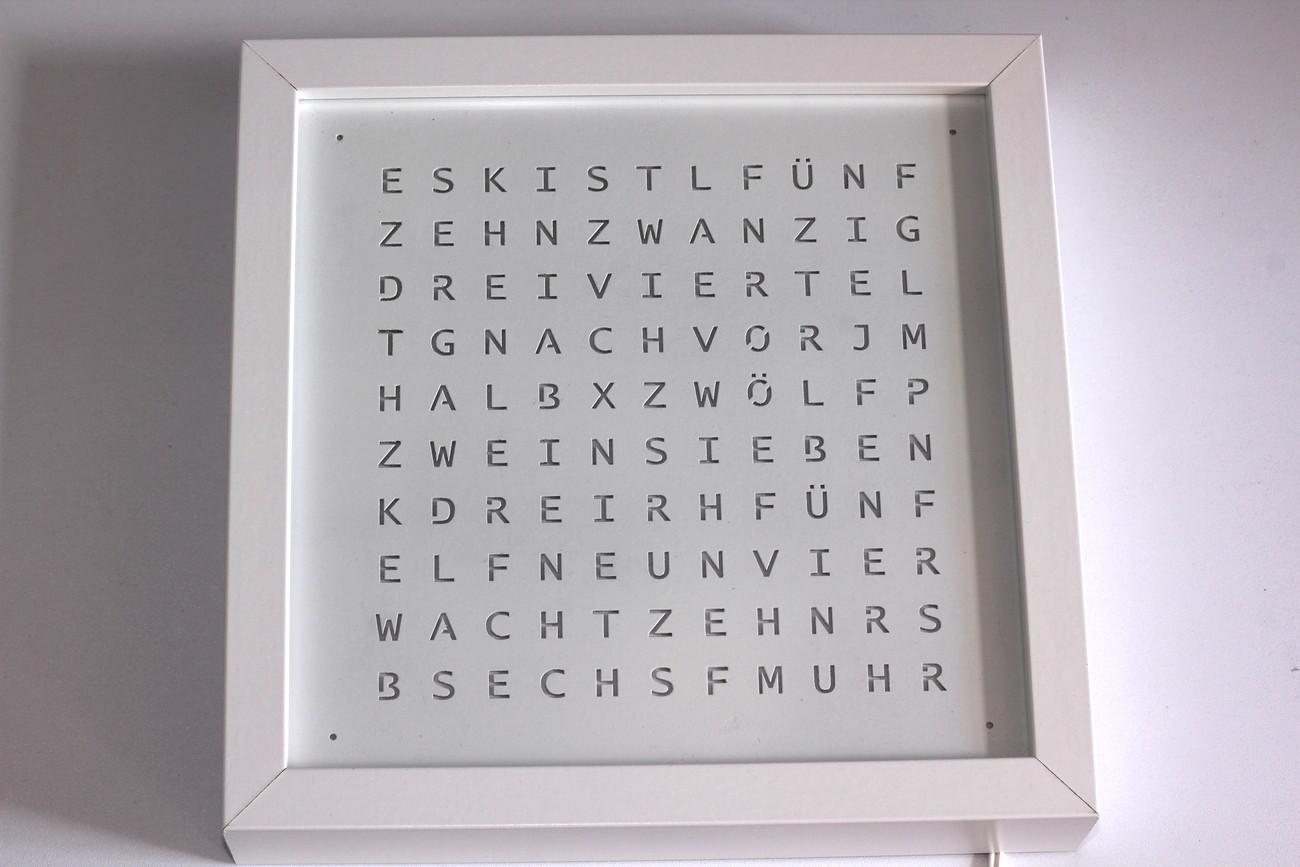 Small Ribba Word Clock